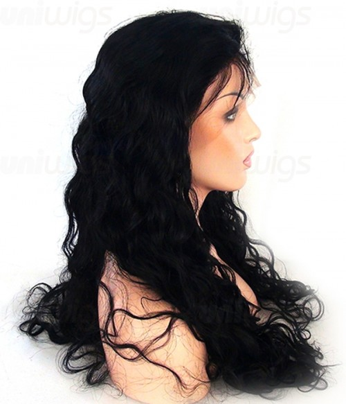 Custom Loose Curl 100% Remy Human Hair Lace Wig