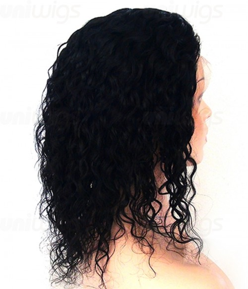 Custom Wavy 100% Remy Human Hair  Lace Wig