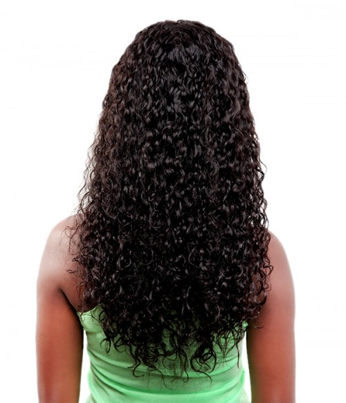 Curly Indian Remy Human Hair Full Lace Wig