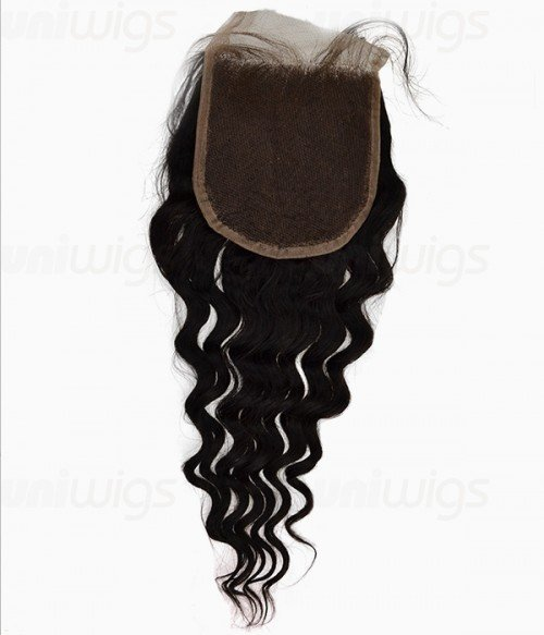 "8-24"" 5""x5"" Loose Wave Free Part/Middle Part/Three Part Brazilian Remy Human Hair Lace Closure"