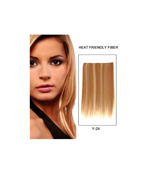 "16"" Straight Synthetic Piano Color Flip In Hair Extension E51007-Y-24"