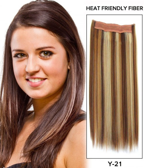 "20"" Straight Synthetic Flip In Hair Extension E52001-Y-21"