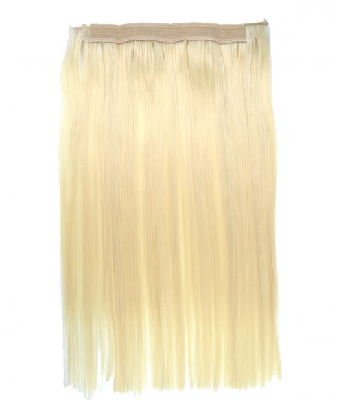 """Upgraded 20"""" Straight Synthetic Flip In Hair Extension With Bead E52001-Y-613"""