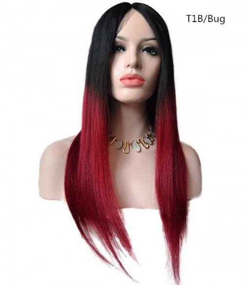 100% Human Hair Middle Part Lace Front Wigs