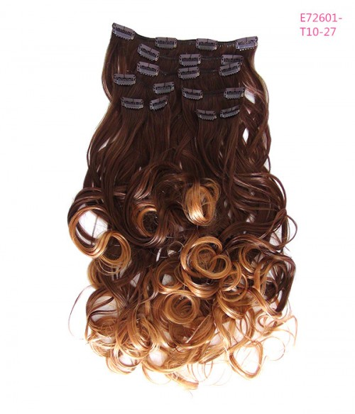 "26"" 7 Pieces Wave Clip In Heat Friendly Synthetic Extension E72601"