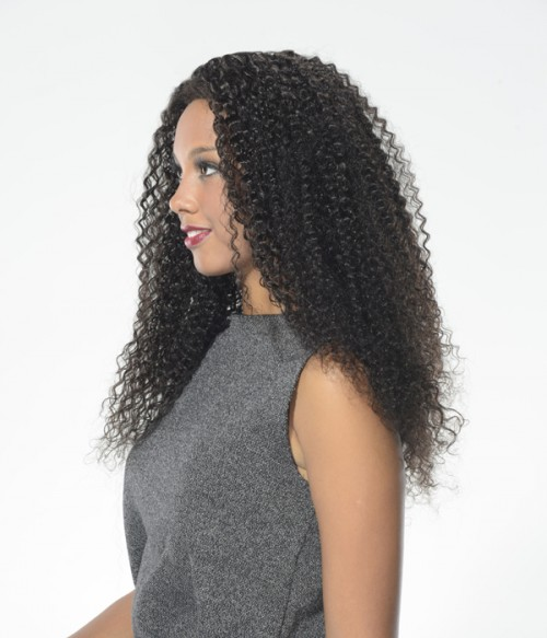 Jerry Curl Indian Remy Human Hair Lace Front Wig