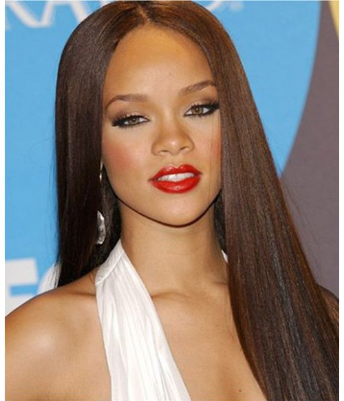 "Beyonce 24"" Yaki Straight Indian Remy Human Hair Full Lace Wig"