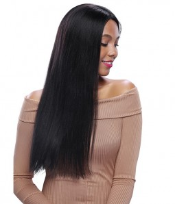Straight 100% Top Quality Remy Human Hair Lace Front Wig