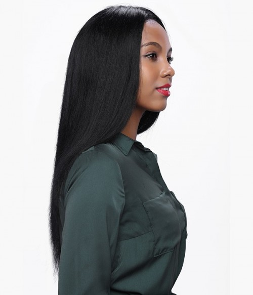 Yaki Straight 100% Indian Remy Human Hair Full Lace Wig