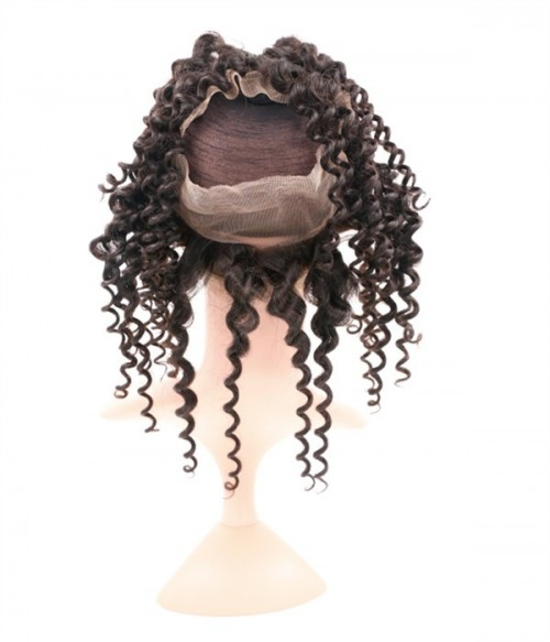Deep Curly Virgin Hair 360 Lace Frontal