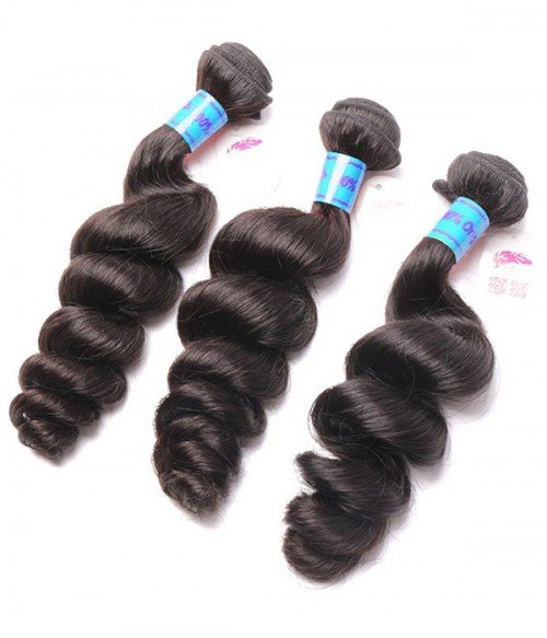 Unprocessed Loose Wave 6A Peruvian Virgin Human Hair Weave