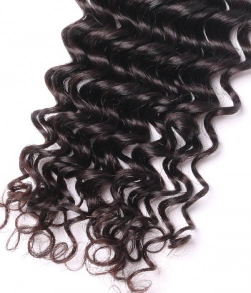 Unprocessed Deep Curly 6A Malaysian Virgin Human Hair Weave