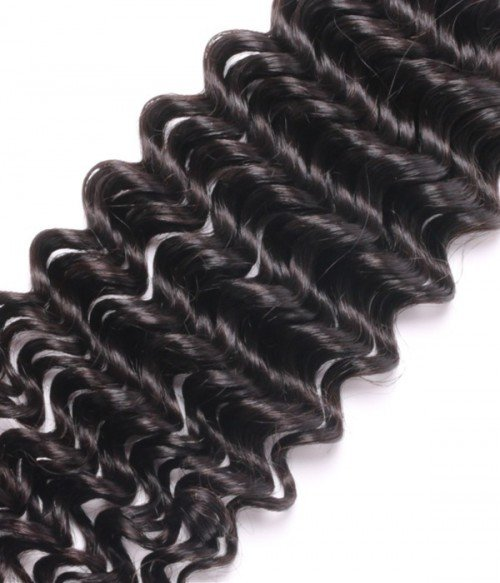 6A Unprocessed Deep Curly Indian Virgin Remy Hair 3Pcs Lot Hair Weave