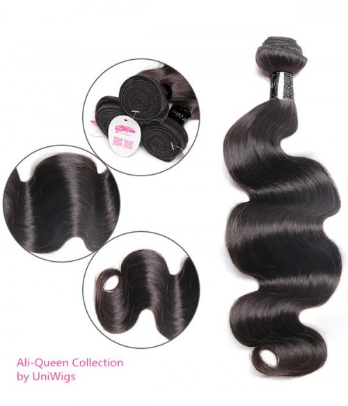 Unprocessed Body Wave 6A Indian Virgin Human Hair Weave