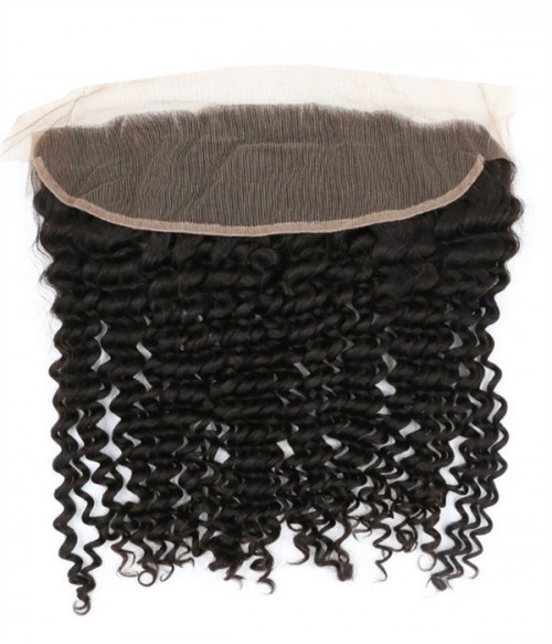Brazilian 13x4 Deep Curly Lace Frontal Closure With Baby Hair