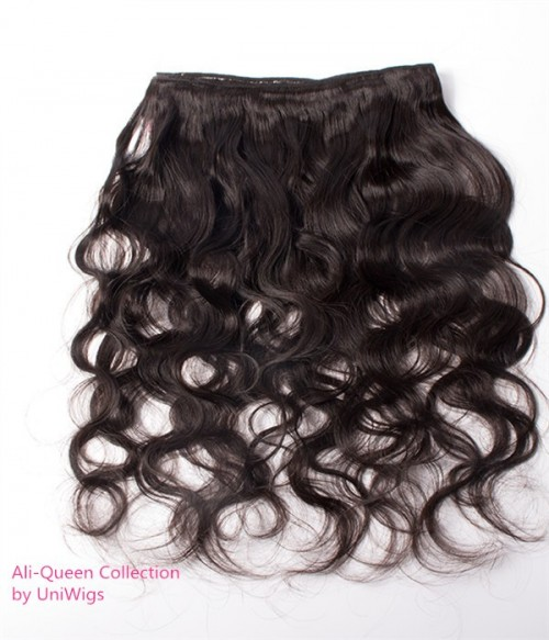 Unprocessed Body Wave 13x4 Malaysian Lace Frontal With 3Pcs Human Hair Waves