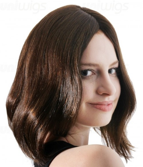 "Jasmine 12"" Remy Human Hair Injected Skin Top Jewish Wig"