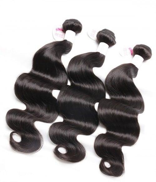 Unprocessed Body Wave 6A Malaysian Virgin Human Hair Weave