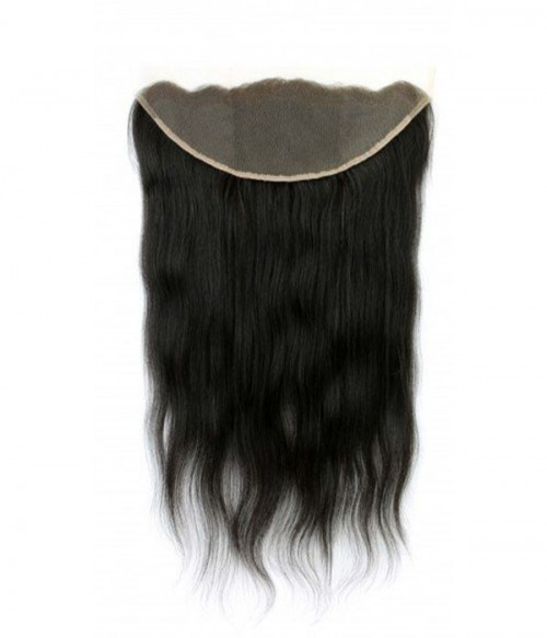 "8-20"" 13""x4"" Natural Straight Free Part/Middle Part/Three Part Brazilian Remy Human Hair Lace Frontal"