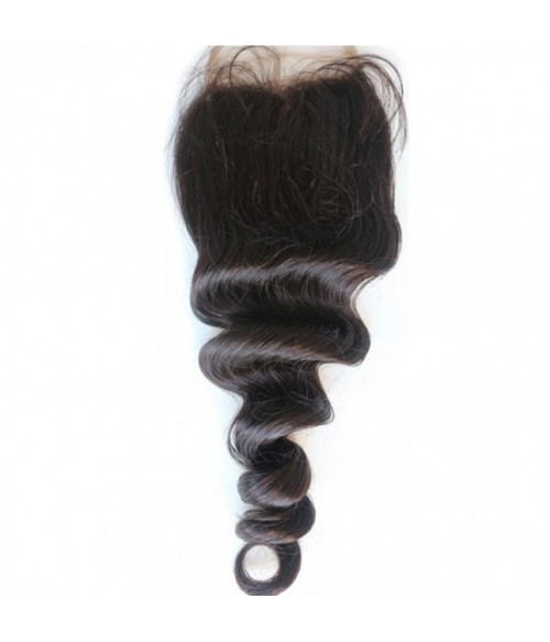 "8-20"" 5""x5"" Loose Wave Free Part/Middle Part/Three Part Brazilian Remy Human Hair Lace Closure"