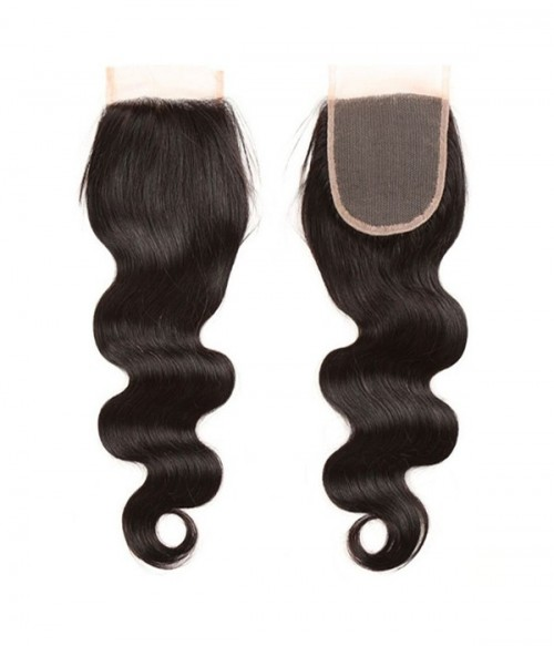 "14"" Body Wave Brazilian Remy Human Hair Middle Part Lace Frontal (5""x5"")"