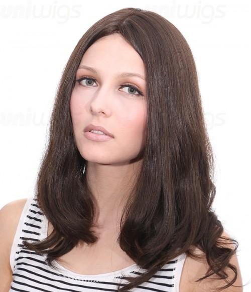 """Maya 14"""" Remy Human Hair Injected Skin Top Jewish Wig"""