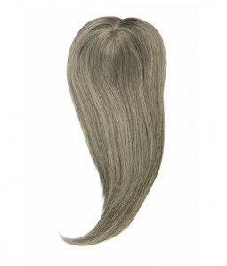6*6 Claire 70% Grey Virgin Remy Human Hair Topper