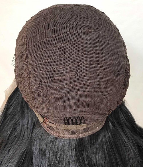 Lace front and weft back