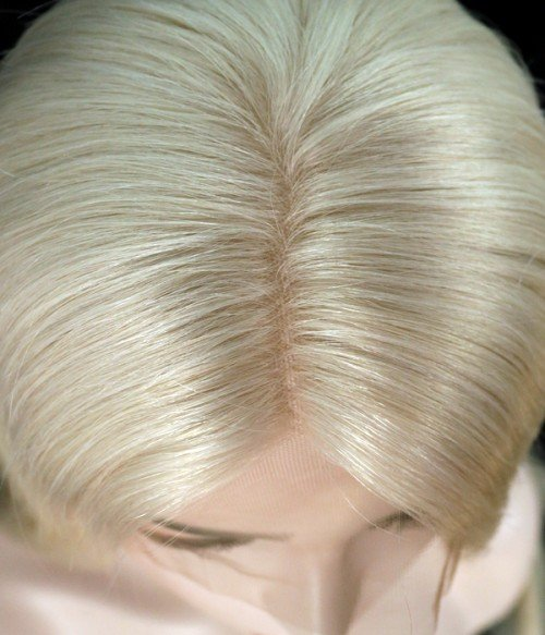 Rihanna Wave Remy Human Hair Ombre Color Lace Wig CL0444  -- 614 Ash Blonde - Ash blonde color without any root color