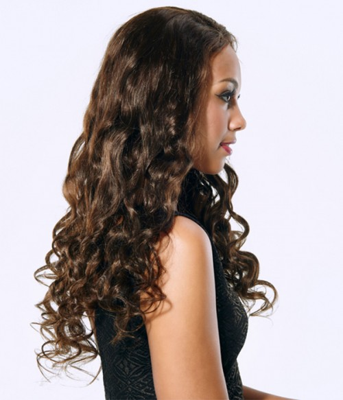 Loose Curl Remy Human Hair Lace Wig