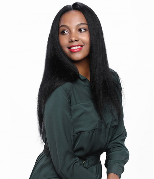 Yaki Straight Remy Human Hair Lace Wig