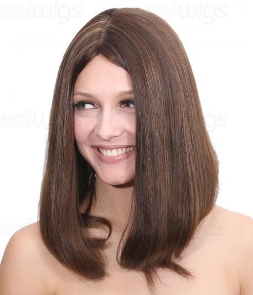 "Sarah 14"" Remy Human Hair Injected Skin Top Jewish Wig"