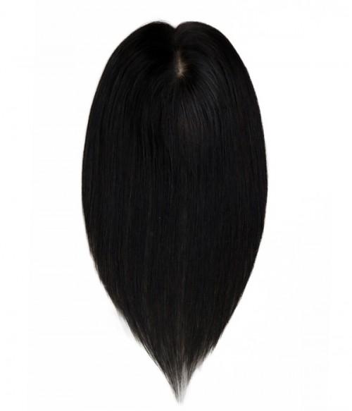 Julie Silk Part Pull through Human Hair Topper
