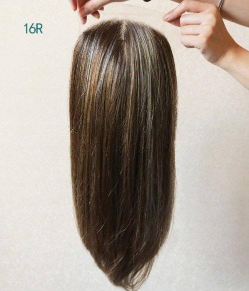 16R Chocolate Caramel | Dark mahogany brown highlight with golden blond & copper brown with dark roots
