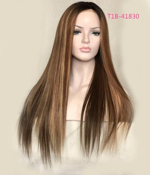 Silky Straight 100% Top Quality Remy Human Hair Full Lace Wig LS0101