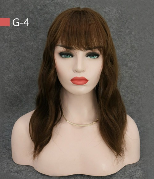 "6""*6"" Amber Silk Top Virgin Human Hair Topper with Bangs"