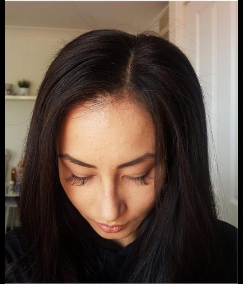 "6""x6"" Charleigh  Straight Remy Human Hair Lace Hair Topper"