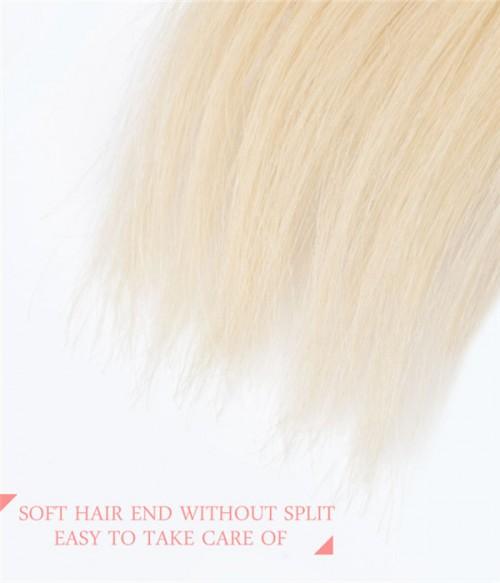 3 Pieces Straight 613 Blonde Virgin Hair Weave