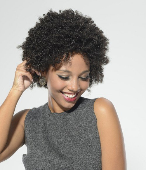 Afro Curl Human Hair Lace Wig