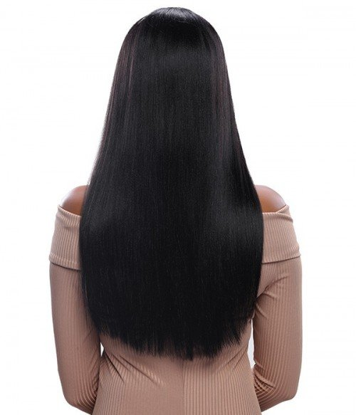 Straight Human Hair Lace Wig With Bang