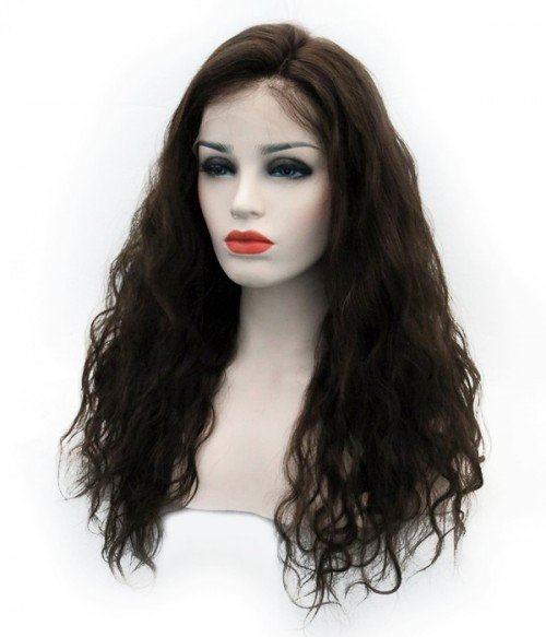 Body Wave Remy Human Hair Lace Wig - Dark Brown