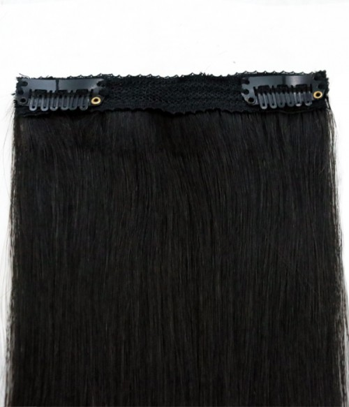"Marian 14""Single Piece Clip-in Remy Human Hair Extension"