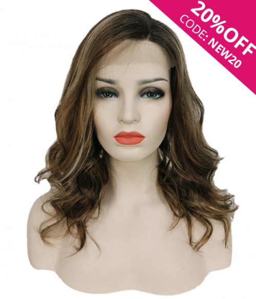 """8.5""""*9"""" Hope Wavy Synthetic Hair Topper"""