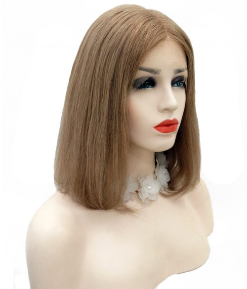 Custom Straight Bob 100% Remy Human Hair Lace  Wig
