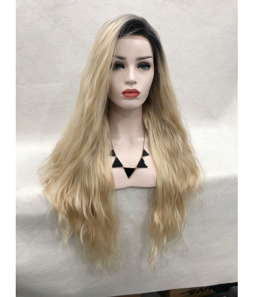 Angelia Synthetic Lace Front Wig-Curly Version