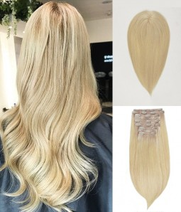 "5.5""*5.5"" Claire Virgin Remy Human Hair Topper 16"" Straight Clip In Remy Human Hair Extension"