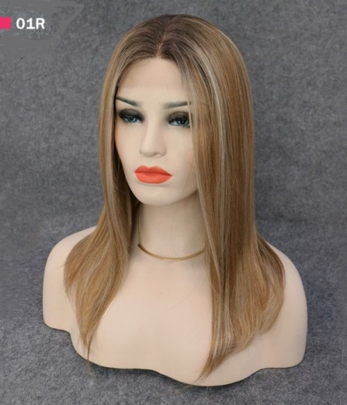 """8.5""""*9""""- 16""""Hope Synthetic Mono Topper+ 14"""" Rachael 2-in-1 Halo Synthetic Hair Extensions"""