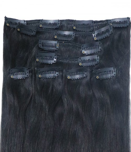 8 Pieces Straight Clip In Remy Human Hair Extension
