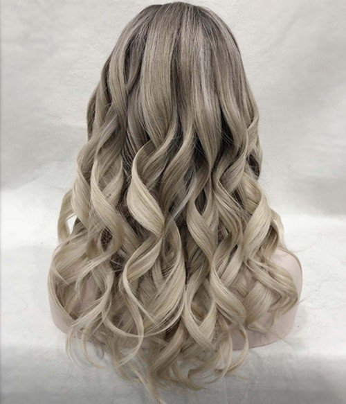 601R - Champagne Lux | Blended shades of Light Beige Blonde and Creamy Ice Blonde, with natural-looking Dark Roots