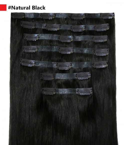 "Vanessa  120G 16"" Invisible Clip-in Remy Human Hair Extension"